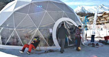 Spherical tents
